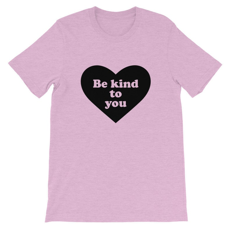 Straight Cut Be Kind to You Heart Design T-Shirt Heather Prism Lilac
