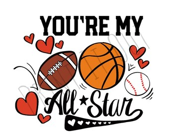 """You are my Allstar - 2""""circle or 2x2"""" square cookie tags. Compatible with Avery 22807 & 22806. Printable tags. Instant digital download."""