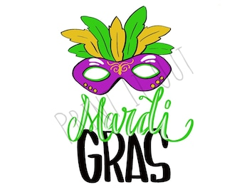 """Mardi Gras Mask - 2""""circle or 2x2"""" square cookie tags. Compatible with Avery 22807 & 22806. Printable tags. Instant digital download."""