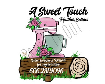 Custom Logo - Compatible with Avery 22807. Printable logo. Instant Digital Download.