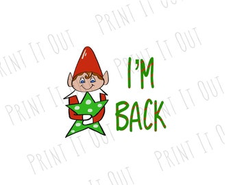 elf im back 2 circle or 2x2 square cookie tags compatible with avery 22807 22806 printable