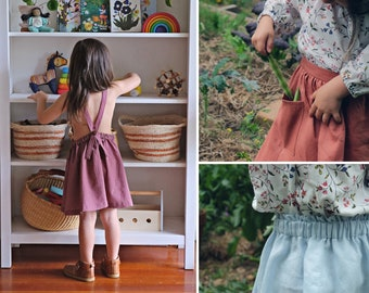 The River Pinafore + Skirt Sewing Pattern // sizes 18 months - 10 years // downloadable PDF // print at home