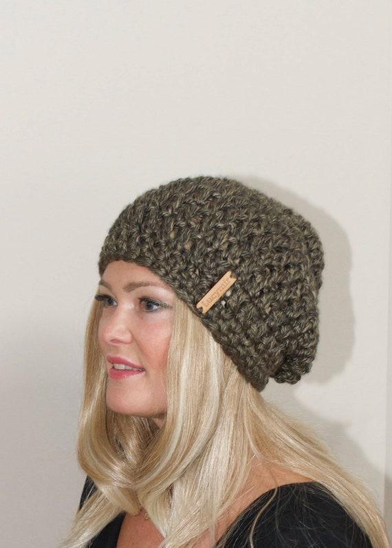 5293c30ce71c8 Slouchy Beanie Crochet Slouchy Hat Women Crochet Winter Hat