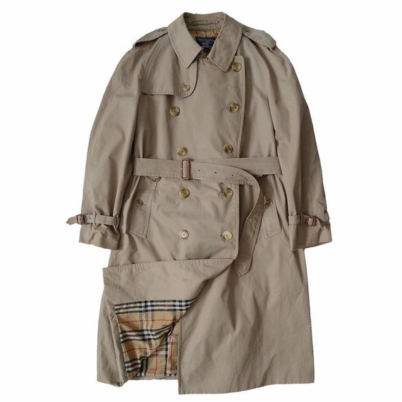 BURBERRY double breasted trench coat, belted, nova