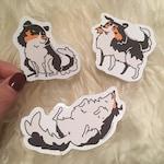 Fluffy Shetland Sheepdog Vinyl Sticker