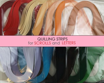 100 Quilling paper strips 5mm wide in assorted pearlescent colours