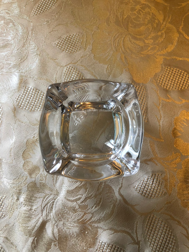 Daum crystal ashtray
