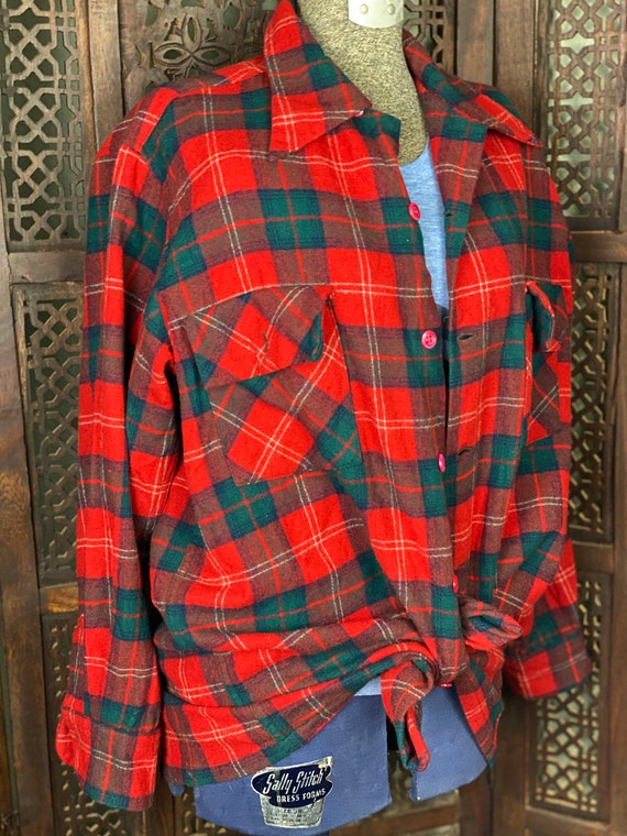 Vintage Pendleton Wool Plaid Shirt | 1950s Pendlet