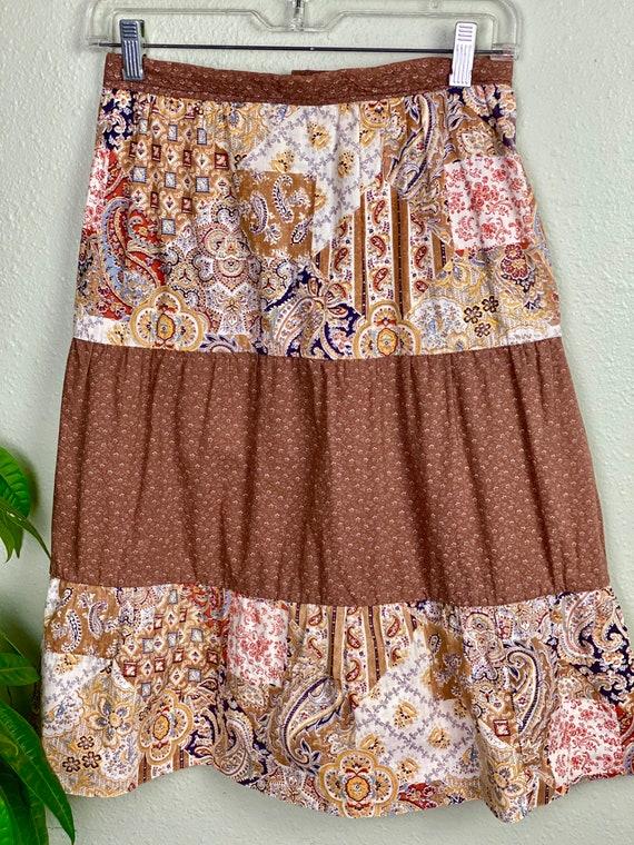 Vintage Homemade Gunne Sax Style Skirt   Paisley … - image 7