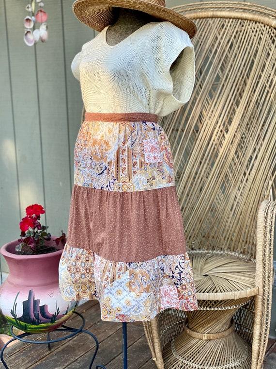 Vintage Homemade Gunne Sax Style Skirt   Paisley … - image 2
