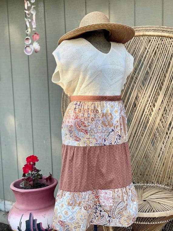 Vintage Homemade Gunne Sax Style Skirt   Paisley … - image 5