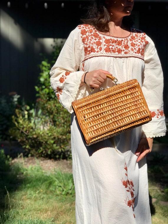 Vintage Wicker Purse | 1940s Basket Purse | Lunchb