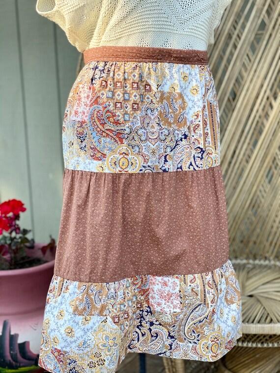 Vintage Homemade Gunne Sax Style Skirt   Paisley … - image 4
