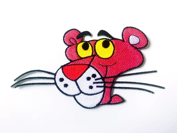 Pink Panther Cartoon Embroidered Iron On Sew On Patch