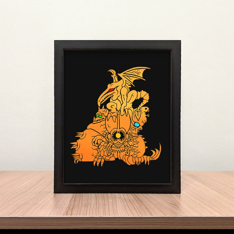 Super Metroid Boss Statue Multi-Color Foil Print