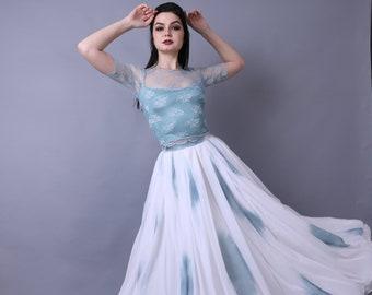 eaec726242 Ombre wedding dress