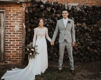 090e3d3043a Ivory wedding dress