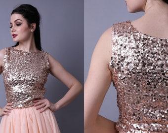 bffa20f8e1ce20 Rose gold sequin top