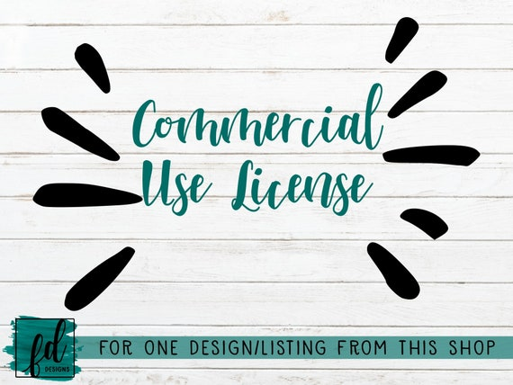 Commercial Use License Png Svg Dxf Silhouette Or Etsy