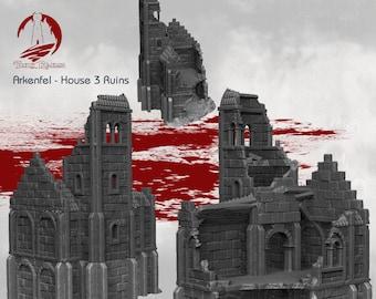 Arkenfel House 3 Ruins / Fantasy / DnD / D&D / 40k / Pathfinder / Age of Sigmar / Dark Realms
