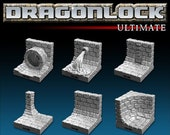 Dungeon Tiles - 30 Pcs Sewer Wall Kit Fantasy DnD D D 40k Dragonlock Terrain Fat Dragon Games