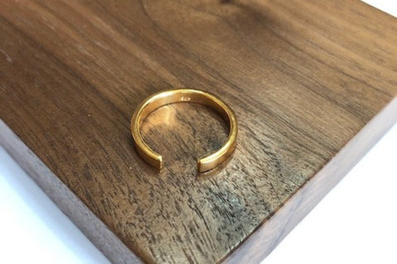 Gifts for Her Jewellery Gold Jewelry Stack Ring Gold Rings 18K Gold Dash Gold Ring Ring Stackable Rings Jewelry Gold Ring