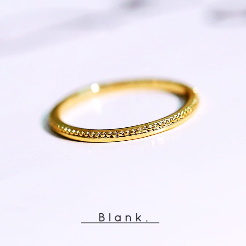 Delicate 925 Sterling Silver 14k gold plated Wedding Band Engagement ring tiny ring craftsmanship ring