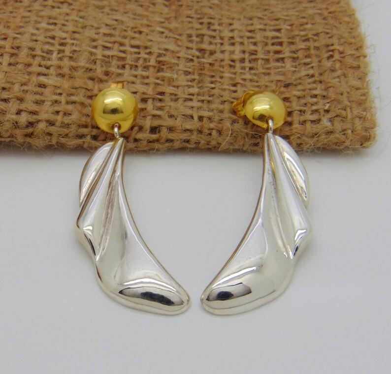 Boho earrings Teardrop earring Handmade earrings Gold plated 18k Silver teardrop earrings Long drop earrings Tear long earrings