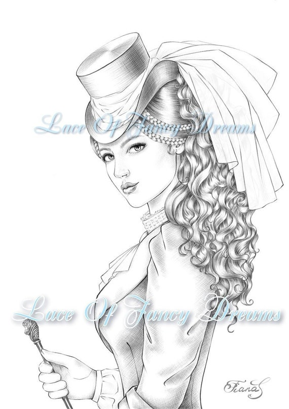 Victorian Woman Coloring Page For Adult Coloring Sheet To Print Victorian Dress Drawing Adult Coloring Pdf Printable Coloring Pages Pdf