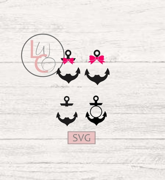 Anchor Monogram Svg Anchor Svg Anchor Cricut File Anchor Etsy
