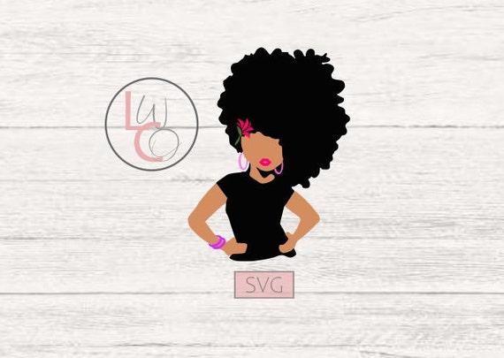 Black afro girl drawing