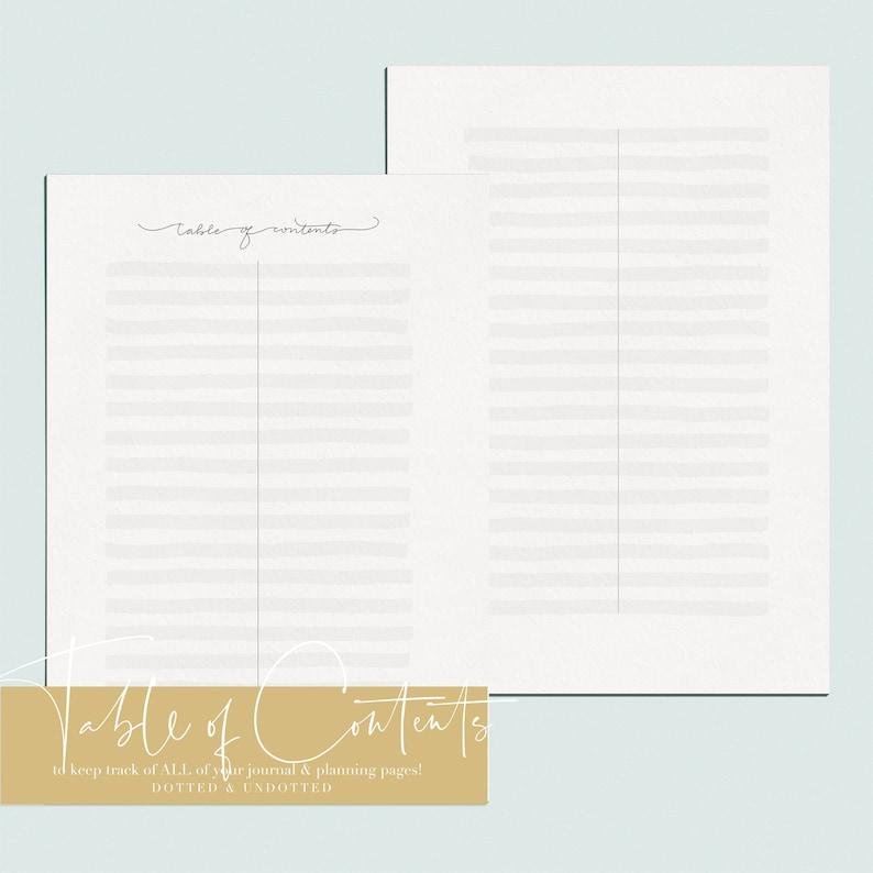 graphic regarding Printable Table of Contents titled Printable 2019 Desk of Contents Planner Website page for Planner Enterprise  Bullet Magazine Handlettered A5 dimension Reward Dot Grid Web pages