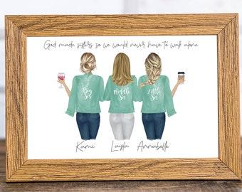 Personalized Print, Personalized Gift, Personalized Sister Print, Sisters Print, Sister Gift, Sister Birthday Gift,