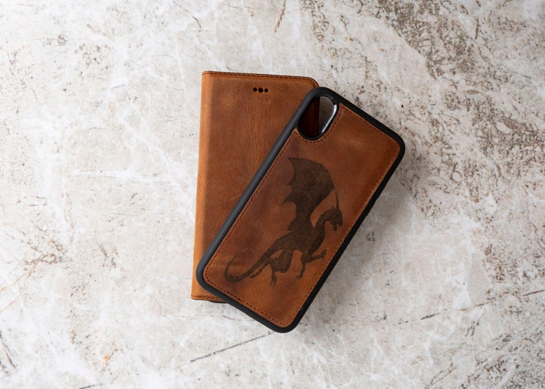 Handmade iPhone XS Max Case. Genuine Leather iPhone XS Max Case Magnetic Detachable Wallet With Card Slots iPhone XS Max Leather Cover