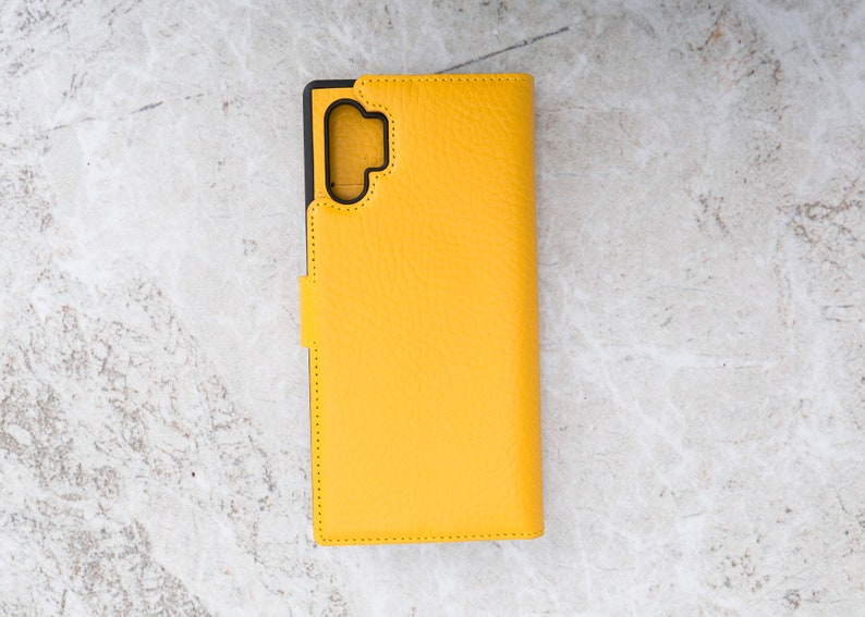 Magnetic Detachable Note 10  Plus Wallet With Card Slots Note 10 Plus Leather Cover. Genuine Leather Samsung Note 10 Plus Case