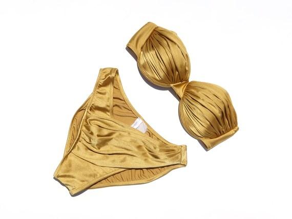 Vintage 80s /90s Gottex Gold Bikini