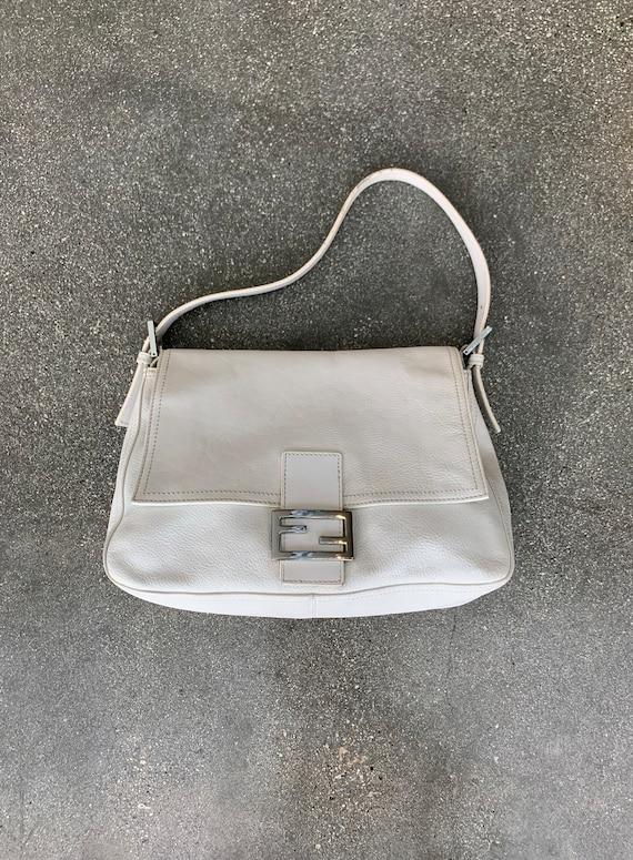 White leather Fendi Mama Forever bag