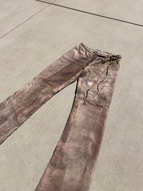 Vintage Ann Demeulemeester Leather and Suede Pants