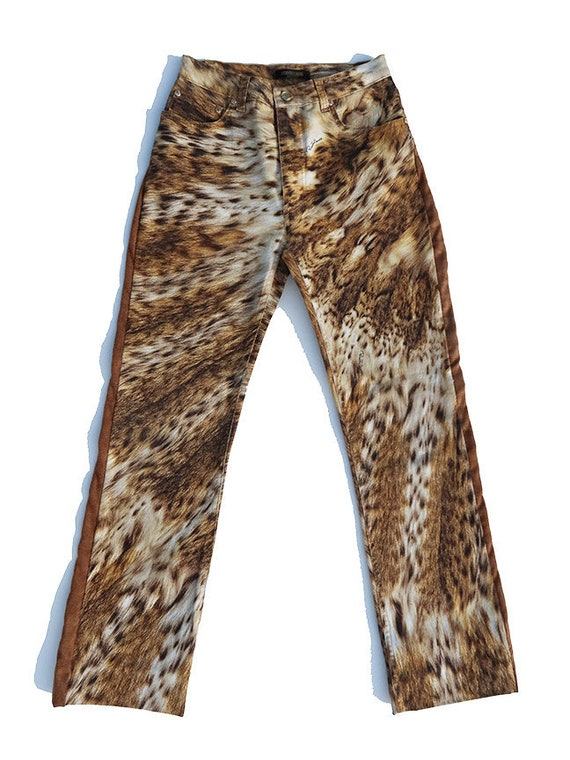 Cavalli Leopard Pants Sz S - Y2K Vintage - Roberto