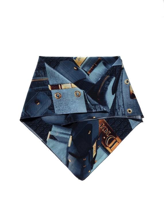 Y2K Dior Street Chic Silk Scarf