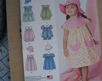 Hat and Panties Jacket Rompers All Sizes XLarge by McCalls Small McCalls 2086 Infants Dress