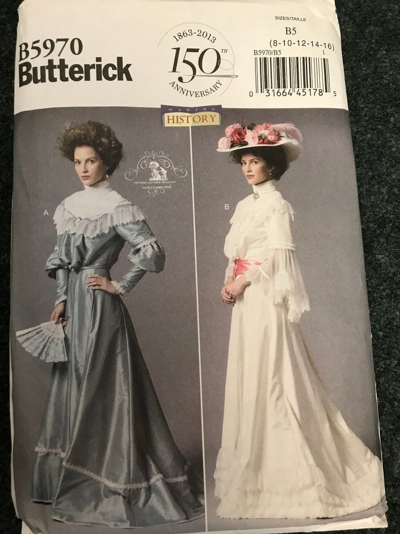 Butterick Patterns 6229 A5,Misses Costume,Sizes 6-8-10-12-14