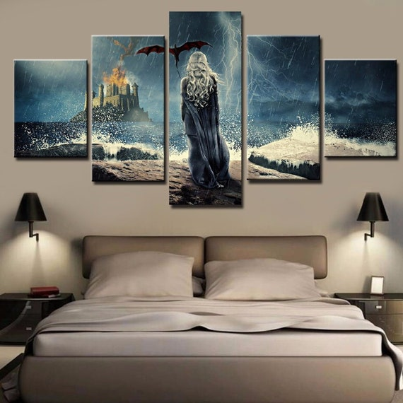 Canvas Pictures Wall Art Print Framed 80cm x 60cm Choice of 10 Designs