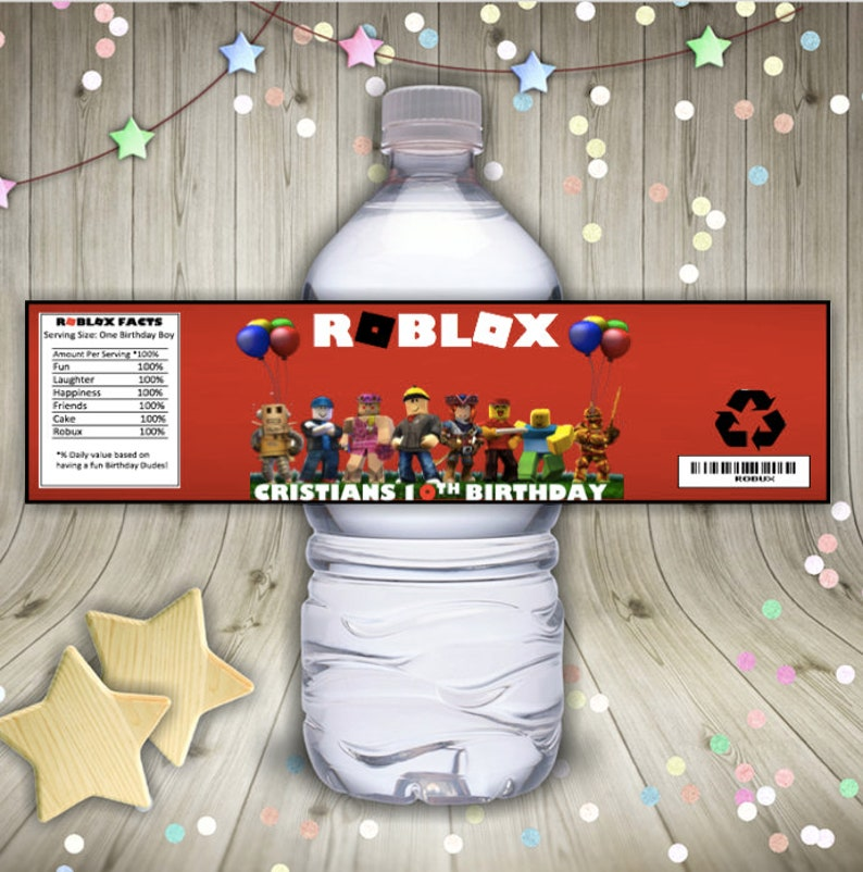 Roblox Water Bottle labels