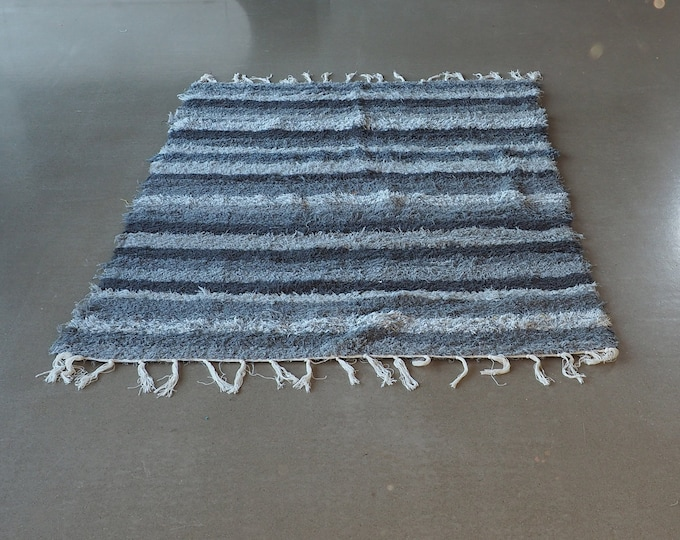 Recycled cotton double mat grey and black design and comfortable eco-friendly ethics Scandinavian contemporary hand made