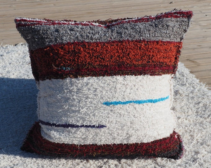 Cushion cover cotton recycled ethical eco-friendly Interior contemporary washable ideal ground comfort 60cm
