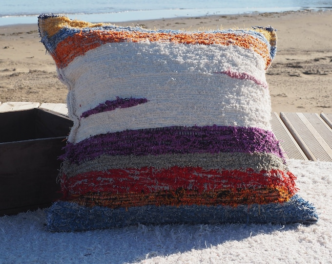 Cushion cover cotton recycled ethical eco-friendly Interior contemporary washable ideal ground comfort