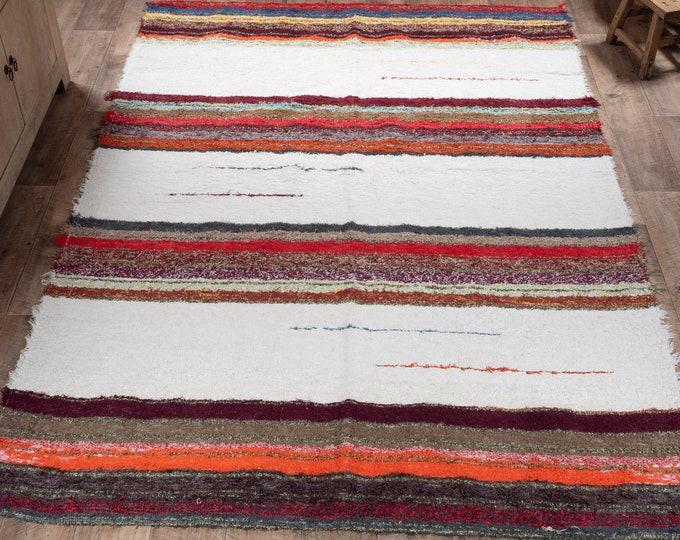 Recycled cotton rug ethical eco-friendly interior Scandinavian contemporary carpet multicolored carpet 170cm 240 cm