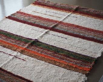 Tapis  coton  recyclé éthique  écologique  intérieur contemporain multicolore blanc ecofrendly commerce équitable
