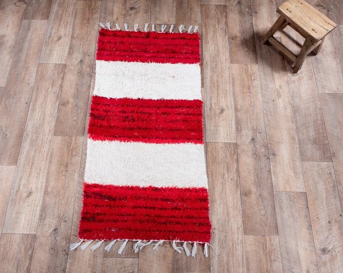 Red red stripe white stripe double cotton recycled eco ecological contemporary interior bed descent. 60cm 120cm
